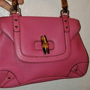 Gucci Pebbled LeatherNail Head Bamboo Bag